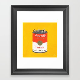 Rooftop party Framed Art Print