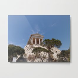 Roman Temple Near Marseille Metal Print