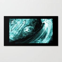 Circles (turquoise) Canvas Print