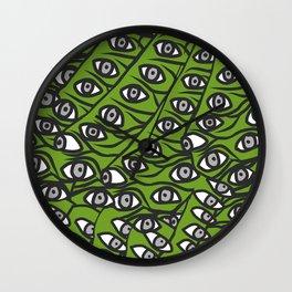 Freddie Eyeballs Avocado Green Wall Clock