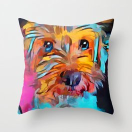 Schnoodle 4 Throw Pillow