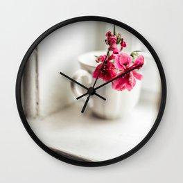 Fading Flowers Wall Clock