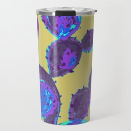 Cactus garden lilac mustard Travel Mug