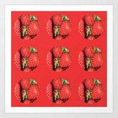 Strawberry Berries Art Print
