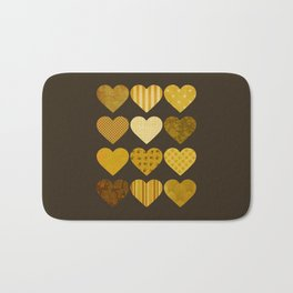 Chocolate Hearts Bath Mat