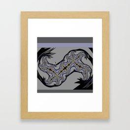 BLACK LAVENDER, lace FRACTALS Framed Art Print