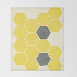 Yellow Honeycomb Throw Blanket