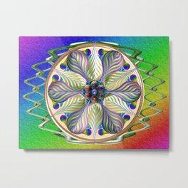 Teardrop Basket Metal Print