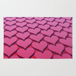 Textured 3D Heart Pattern Rug