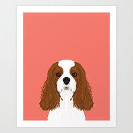 Bode - King Charles Spaniel customizable pet art for dog lovers  Art Print