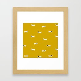 Dog dachshund pattern Framed Art Print