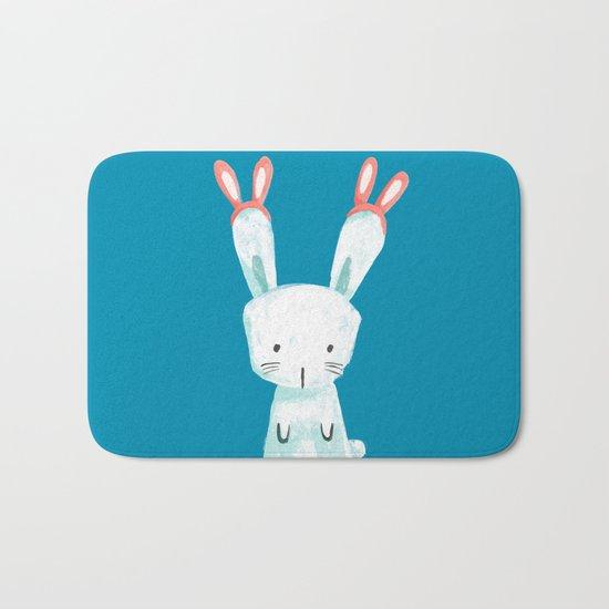 Four Eared Bunny Bath Mat