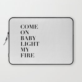 Light My Fire [white] Laptop Sleeve