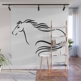 Swift Mare Stylized Inking Wall Mural