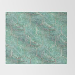 Alfetta Verde hexagons Throw Blanket
