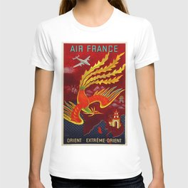 Vintage 1947 Air France for the Orient Extreme-Orient Advertisement Poster by Lucien Bouch T-shirt