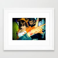 rave Framed Art Prints featuring RaVe by Christopher Ibonalo