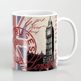 London Great Britain Big Ben Flag Collage #Society6Art Coffee Mug