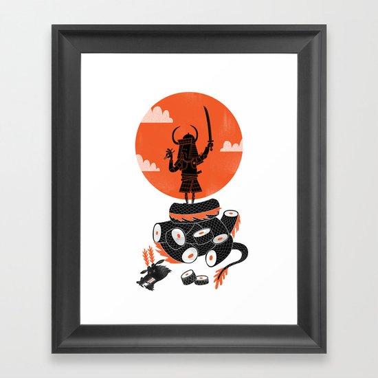 Samurai Sushi Framed Art Print