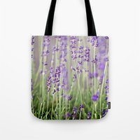 lavender Tote Bags featuring Lavender by A Wandering Soul