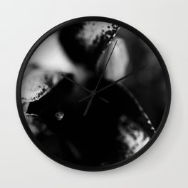 Lilllies in Black and White II Wall Clock