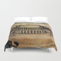 theater Duvet Covers featuring Yerevan Opera Theater by Narek Gyulumyan