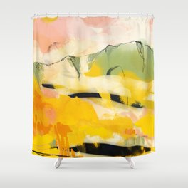 landscape abtract - paysage jaune Shower Curtain