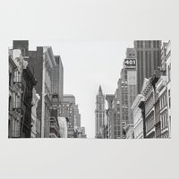 broadway Area & Throw Rugs featuring Broadway - NY by Basma Gallery
