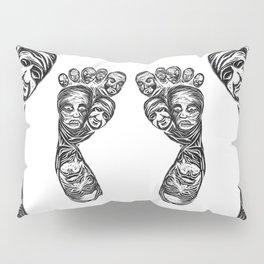 Face foot linoleum press Pillow Sham