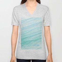 Seawall-blue and white Unisex V-Neck