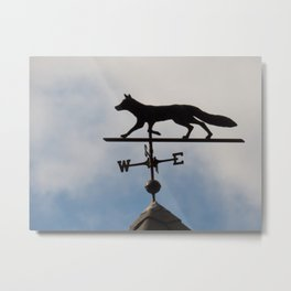 Coyote Shaped weather vane Metal Print