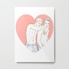 DeanCas Heart Hug (Pink) Metal Print