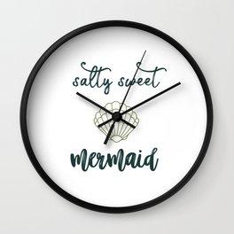 Salty Sweet Mermaid Wall Clock