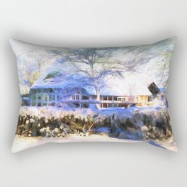 It´s a sunny day in winter Rectangular Pillow