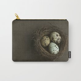 Quails Eggs and Nest Carry-All Pouch