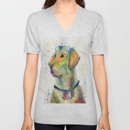 Colorful Dog - Labrador Retriever Unisex V-Neck