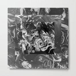 Black Marble Box Metal Print
