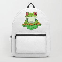 Frog on Leaf Backpack