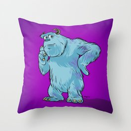 """Monsters, Inc.   James P. """"Sulley"""" Sullivan Throw Pillow"""