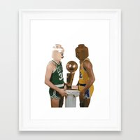 lakers Framed Art Prints featuring lego magic by tbdaniel15