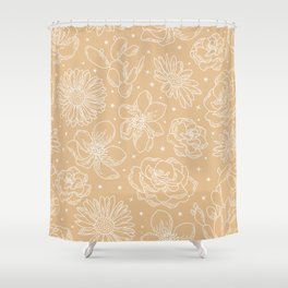 Celestial Star Pattern lines with the shapes XI Shower Curtain