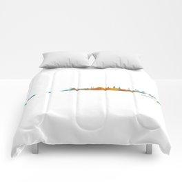 Istanbul City Skyline Hq v1 Comforters