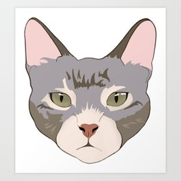 Green eyed kitty Art Print