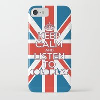 "coldplay iPhone & iPod Cases featuring ""Keep Calm and Listen to Coldplay""-Union Jack by Fabfari"