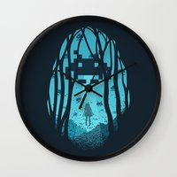 8 bit Wall Clocks featuring 8 Bit Invasion by filiskun