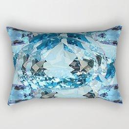 March Babies Blue Aquamarine Gems Abstract design. Rectangular Pillow