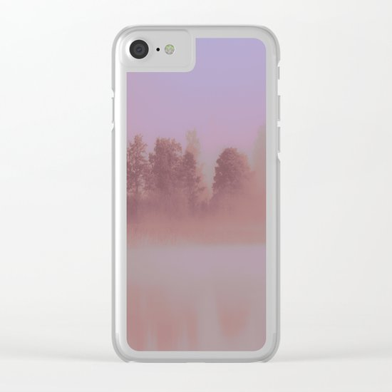 Over The Rainbow Forest Clear iPhone Case