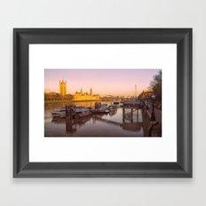 Cityscape London In Winter Framed Art Print