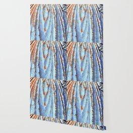 Caryatid in Blue Wallpaper