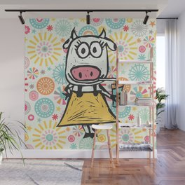 Jazzy Cow Wall Mural